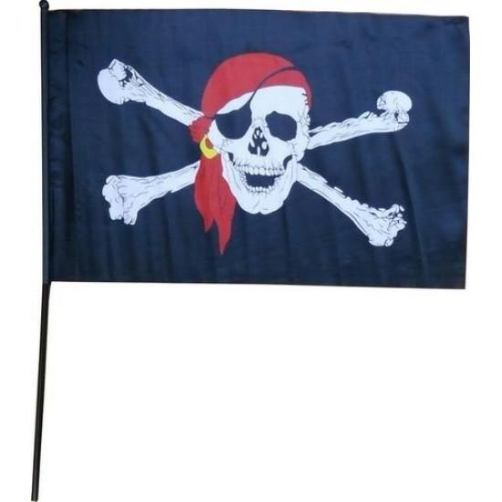Пиратский флаг 16х24 см