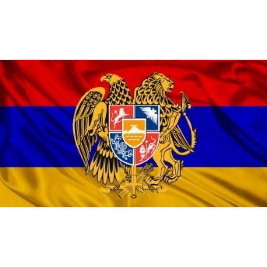 Флаг Армении с гербом 30х45 см