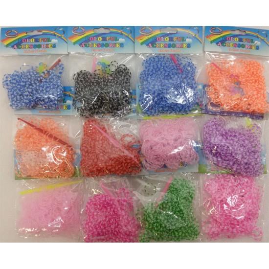 Резинки для плетения полосатые  оптом