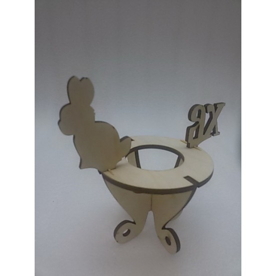 Пасхальные подставки и сувениры, Пасхальная подставка для яиц Зайчик ХВ