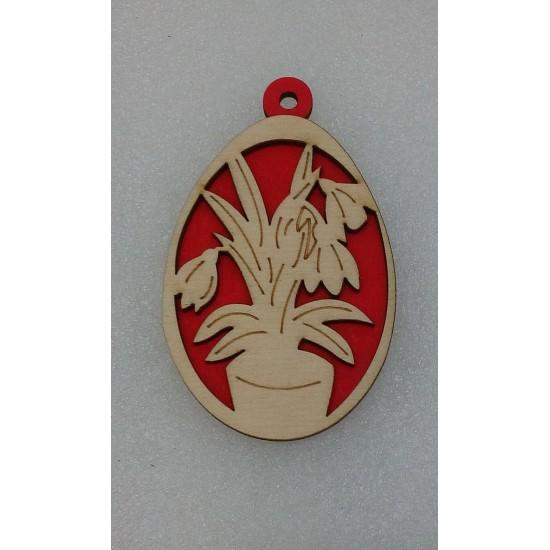 Пасхальные подставки и сувениры, Подвеска Пасхальное яйцо (модель 3)