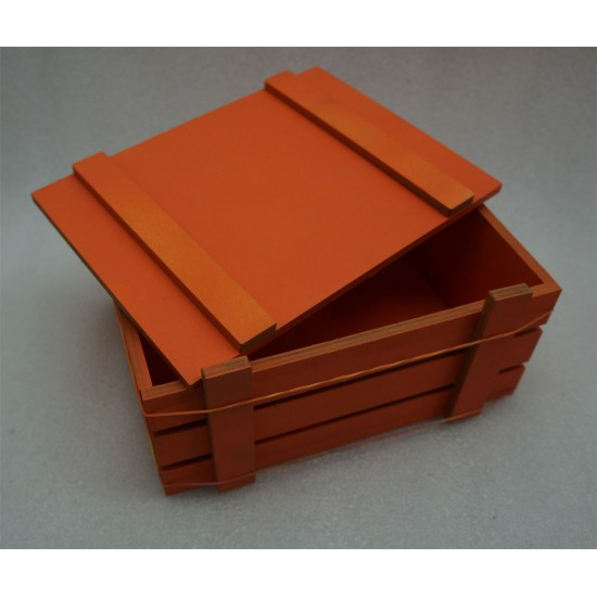 Ящик Страха оранжевый с крышкой