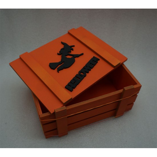 Ящик страха Helloween ведьма оранжевый