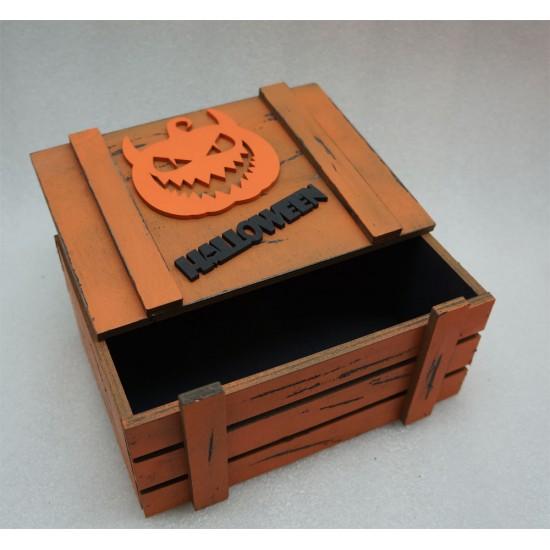 Старинный ящик страха Helloween Тыква зубастая черно-оранж