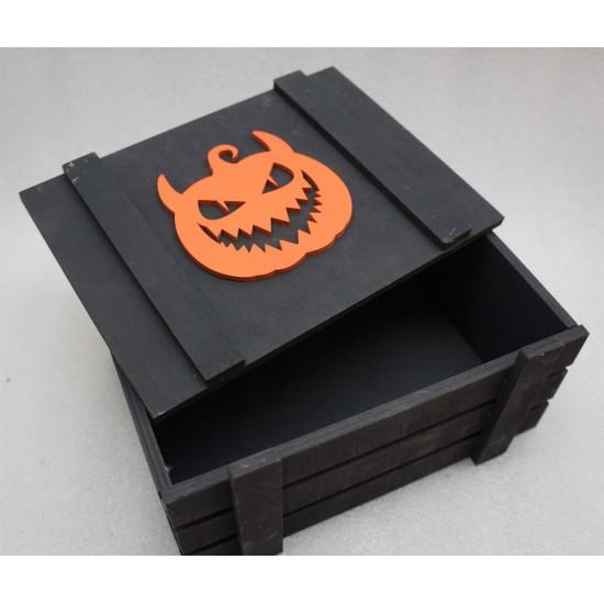 Ящик страха зубастая тыква черный