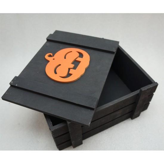 Ящик страха веселая тыква черный