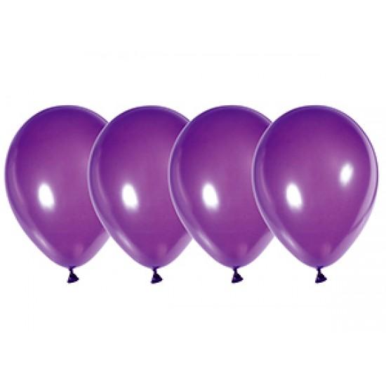 """Воздушные шары без рисунка, Воздушный шар латексный 14"""", стандарт (ПАСТЕЛЬ), 50 шт/упак. Фиолетовый,  (50 шт.), 4.80 р. за 1 шт."""