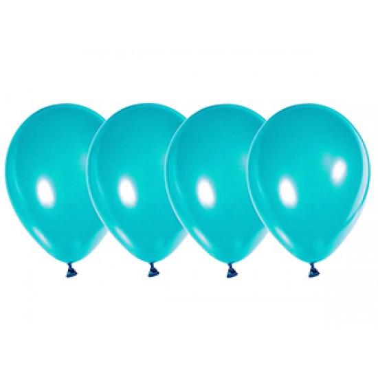 """Воздушные шары без рисунка, Воздушный шар латексный 14"""", стандарт (ПАСТЕЛЬ), 50 шт/упак. Бирюзовый,  (50 шт.), 4.80 р. за 1 шт."""