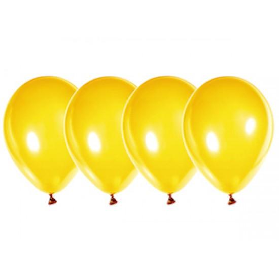 """Воздушные шары без рисунка, Воздушный шар латексный 14"""", стандарт (ПАСТЕЛЬ), 50 шт/упак. Желтый,  (50 шт.), 4.30 р. за 1 шт."""