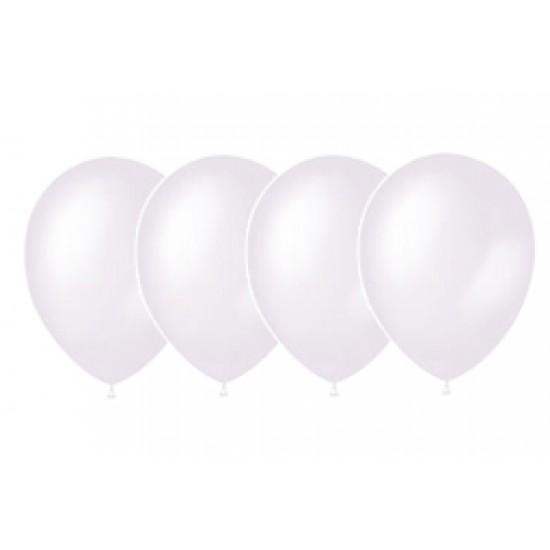 """Воздушные шары без рисунка, Воздушный шар латексный 14"""", стандарт (ПАСТЕЛЬ), 50 шт/упак. Белый,  (50 шт.), 4.30 р. за 1 шт."""