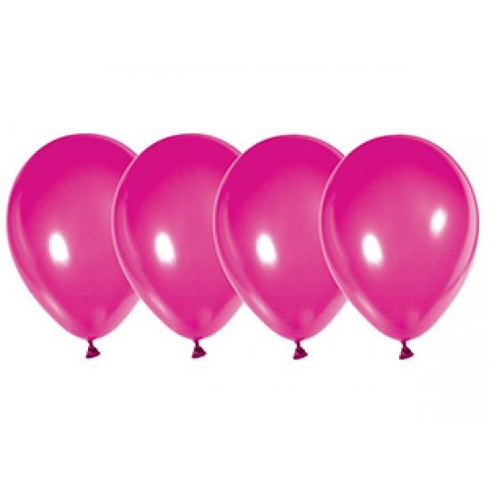 """Воздушные шары без рисунка, Воздушный шар латексный 12"""", стандарт люкс (ПАСТЕЛЬ), Ярко-розовый,  (4000 шт.), 2.90 р. за 1 шт."""