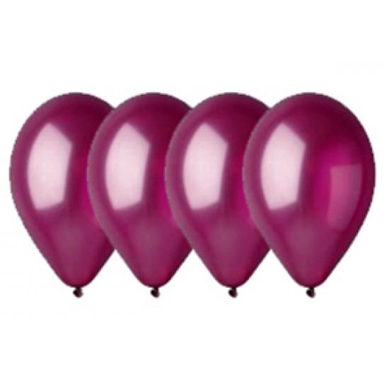 """Воздушные шары без рисунка, Воздушный шар латексный 12"""", стандарт люкс (ПАСТЕЛЬ), Бургундский,  (4000 шт.), 2.90 р. за 1 шт."""