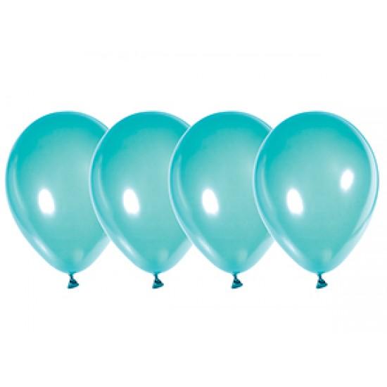 """Воздушные шары без рисунка, Воздушный шар латексный 12"""", стандарт люкс (ПАСТЕЛЬ), Бирюзовый,  (4000 шт.), 2.90 р. за 1 шт."""