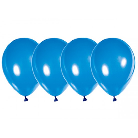 """Воздушные шары без рисунка, Воздушный шар латексный 10"""", металлик, 50 шт/упак. Синий,  (50 шт.), 2.80 р. за 1 шт."""