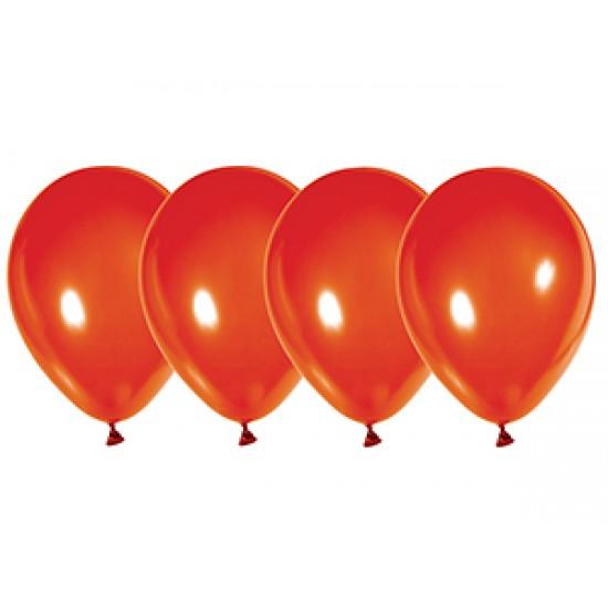 """Воздушные шары без рисунка, Воздушный шар латексный 10"""", металлик, 50 шт/упак. Красный,  (50 шт.), 2.80 р. за 1 шт."""