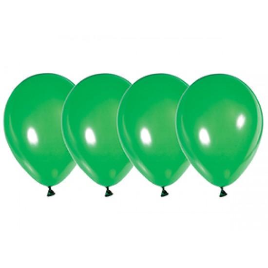"""Воздушные шары без рисунка, Воздушный шар латексный 12"""", кристалл, 50 шт/упак. Зелёный,  (50 шт.), 2.90 р. за 1 шт."""
