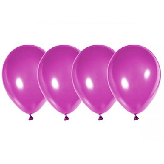 """Воздушные шары без рисунка, Воздушный шар латексный 12"""", кристалл, 50 шт/упак.Пурпурный,  (50 шт.), 2.90 р. за 1 шт."""