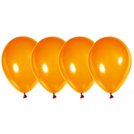 """Воздушные шары без рисунка, Воздушный шар латексный 12"""", кристалл, 50 шт/упак. Оранжевый,  (50 шт.), 2.90 р. за 1 шт."""