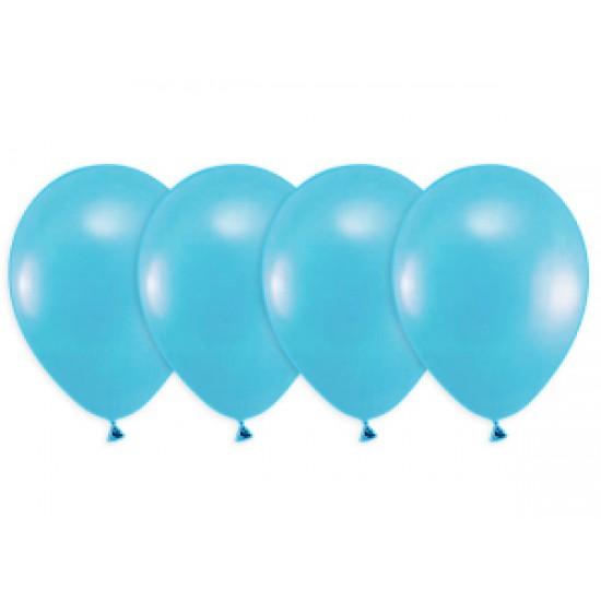 """Воздушные шары без рисунка, Воздушный шар латексный 12"""", стандарт люкс (ПАСТЕЛЬ), 50 шт/упак. Карибский синий,  (50 шт.), 2.90 р. за 1 шт."""