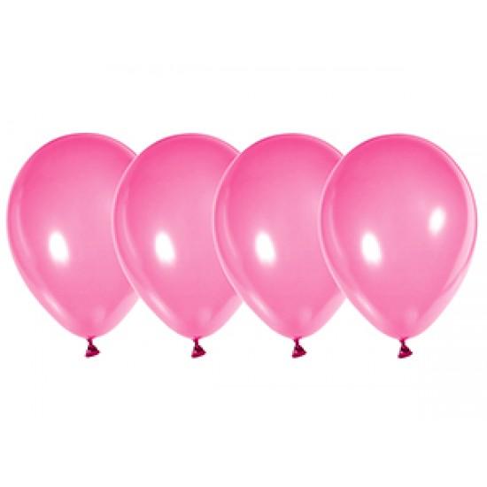 """Воздушные шары без рисунка, Воздушный шар латексный 12"""", стандарт люкс (ПАСТЕЛЬ), 50 шт/упак. Ярко-Розовый,  (50 шт.), 2.90 р. за 1 шт."""
