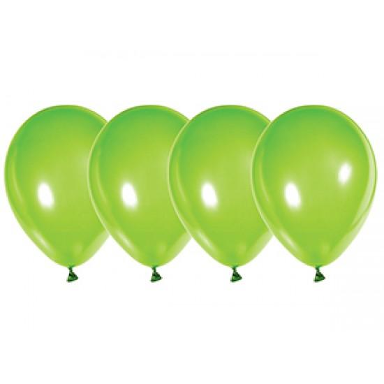 """Воздушные шары без рисунка, Воздушный шар латексный 12"""", стандарт люкс (ПАСТЕЛЬ), 50 шт/упак.Зеленый (Лайм),  (50 шт.), 2.90 р. за 1 шт."""