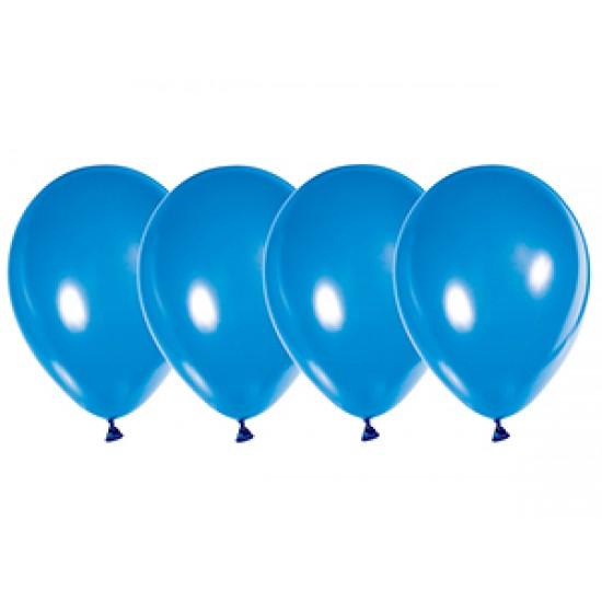 """Воздушные шары без рисунка, Воздушный шар латексный 12"""", стандарт (ПАСТЕЛЬ), 50 шт/упак. Синий,  (50 шт.), 3.80 р. за 1 шт."""