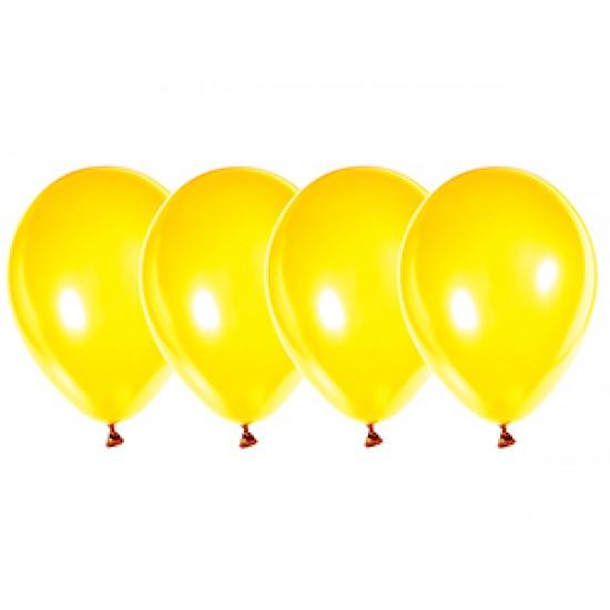 """Воздушные шары без рисунка, Воздушный шар латексный 12"""", стандарт (ПАСТЕЛЬ), 50 шт/упак. Желтый,  (50 шт.), 3.80 р. за 1 шт."""