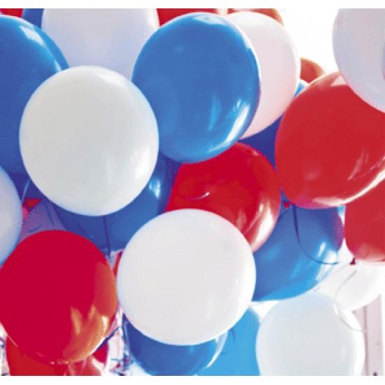 """Воздушные шары 9 мая, Воздушный шар латексный 12"""" стандарт (ПАСТЕЛЬ), 50 шт/упак. Ассорти,  (50 шт.), 3.48 р. за 1 шт."""