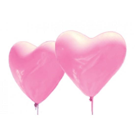 """Шары - сердца, Воздушный шар сердце 16"""", стандарт (ПАСТЕЛЬ), 50 шт/упак. Розовый,  (50 шт.), 9.90 р. за 1 шт."""