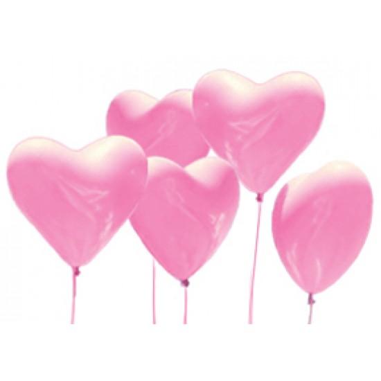 """Шары - сердца, Воздушный шар сердце 12"""", стандарт (ПАСТЕЛЬ), 50 шт/упак. Розовый,  (50 шт.), 6.90 р. за 1 шт."""