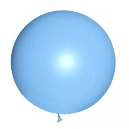 Шары гиганты, М350153 (AVP-350-005)  Воздушный шар латексный, стандарт (ПАСТЕЛЬ), Голубой,  (1 шт.), 160 р. за 1 шт.
