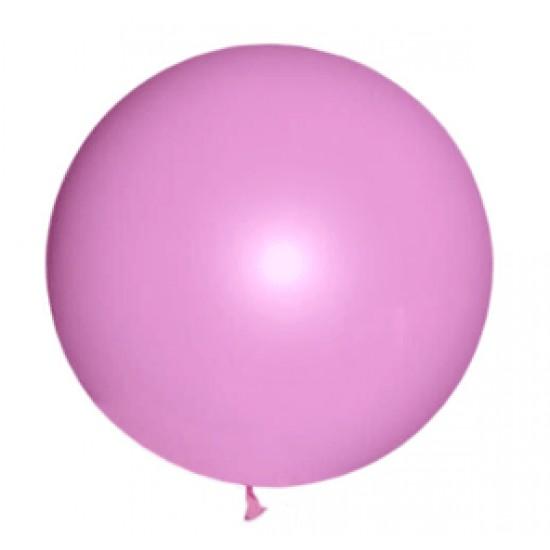 Шары гиганты, М350131(AVP-350-004)   Воздушный шар латексный, стандарт (ПАСТЕЛЬ), Розовый,  (1 шт.), 160 р. за 1 шт.