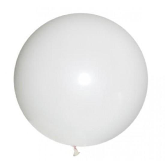 Шары гиганты, Воздушный шар латексный, стандарт (ПАСТЕЛЬ), Белый,  (1 шт.), 110 р. за 1 шт.