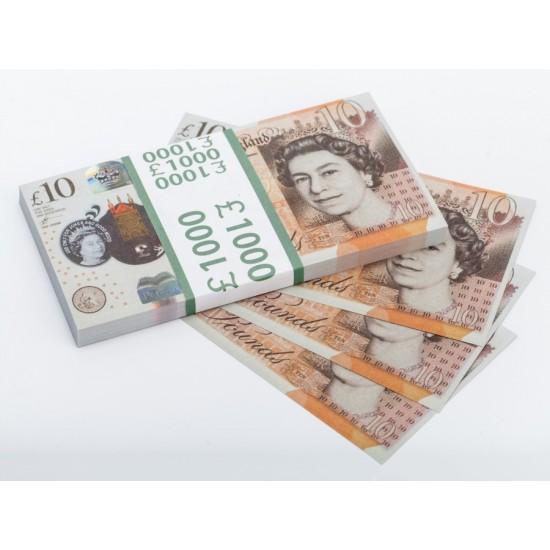 Шуточные деньги, Билеты банка приколов 10 фунтов стерлингов