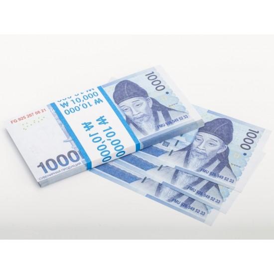 Шуточные деньги, Билеты банка приколов 1000 южнокорейских вон