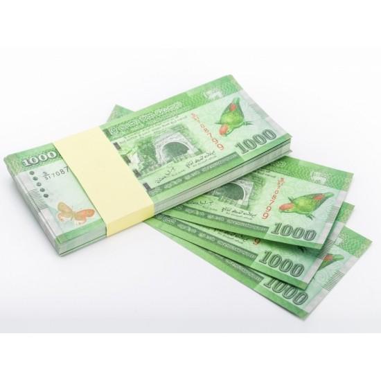 Шуточные деньги, Билеты банка приколов 1000 Шри-Ланских рупий