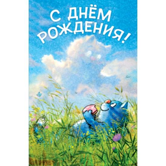 Открытки А5 шуточные, Открытка   С днем рождения,  (10 шт.), 6.70 р. за 1 шт.