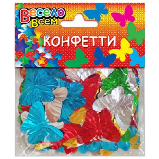 Конфети, Серпантин, Конфетти Бабочки  микс цветов,  (1 шт.), 35 р. за 1 шт.