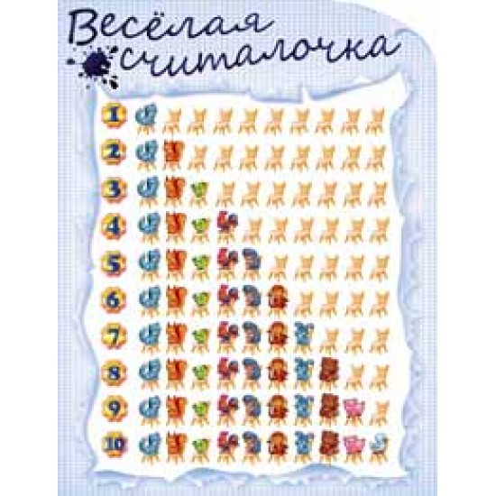Плакаты, Веселая считалочка,  (10 шт.), 33 р. за 1 шт.