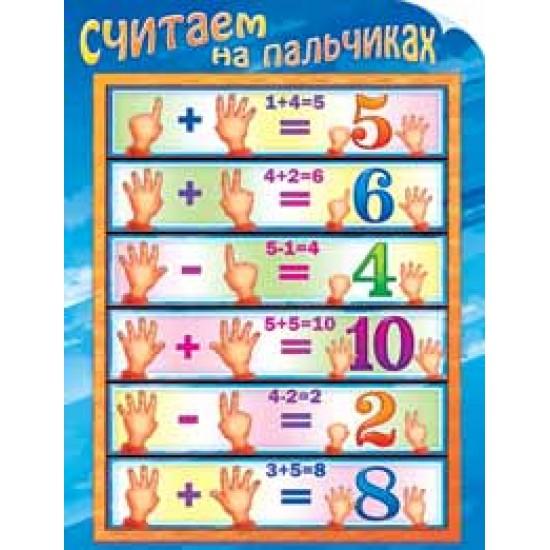 Плакаты, Считаем на пальчиках,  (10 шт.), 32 р. за 1 шт.