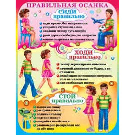Плакаты, Правильная осанка,  (10 шт.), 33 р. за 1 шт.