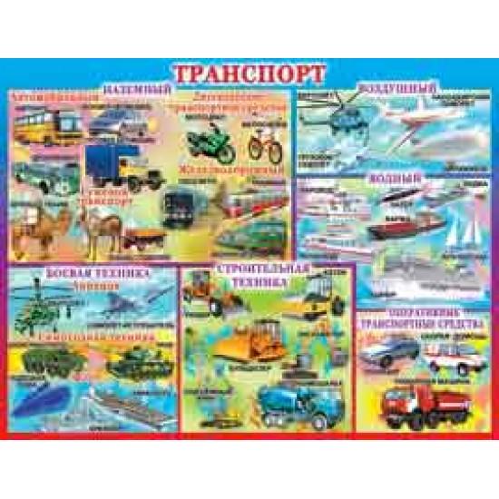 Плакаты, Транспорт,  (10 шт.), 33 р. за 1 шт.