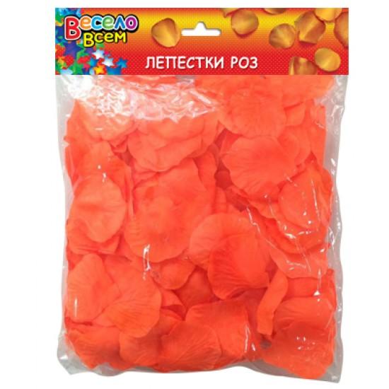 Конфети, Серпантин, Конфетти лепестки роз, оранжевый,  (1 шт.), 55 р. за 1 шт.