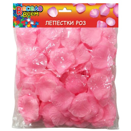 Конфети, Серпантин, Конфетти лепестки роз, светло-розовый,  (1 шт.), 55 р. за 1 шт.
