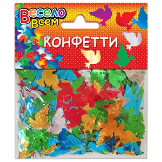 Конфетти на свадьбу, Конфетти Голуби микс цветов,  (1 шт.), 35 р. за 1 шт.