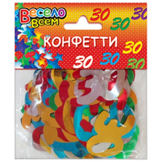 Конфети, Серпантин, Конфетти 30 микс цветов,  (1 шт.), 10.50 р. за 1 шт.