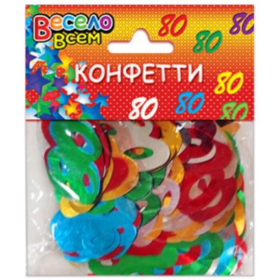 Конфети, Серпантин, Конфетти 80 микс цветов,  (1 шт.), 10.50 р. за 1 шт.