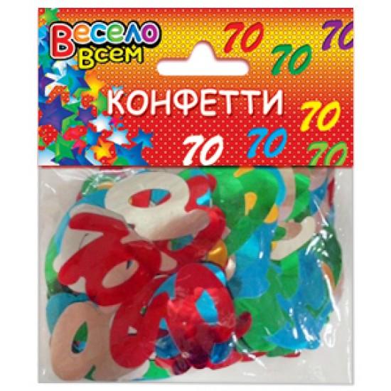 Конфети, Серпантин, Конфетти 70 микс цветов,  (1 шт.), 10.50 р. за 1 шт.