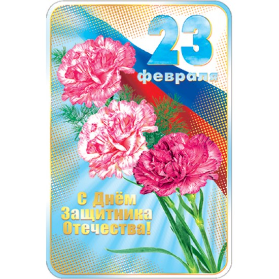 Открытки А5, Открытка   23 февраля,  (10 шт.), 15.80 р. за 1 шт.
