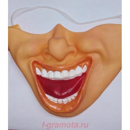 Маски латексные, Полумаска латексная Смех,